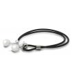 TWINS - Pulsera de plata con perla.