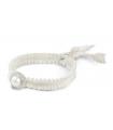 FEEL GOOD Rodó - Polsera blanca de plata amb perla.