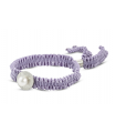 FEEL GOOD Redondo - Pulsera violeta de plata con perla.