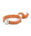 FEEL GOOD Rodó - Polsera taronja de plata amb perla.