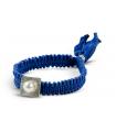 FEEL GOOD Quadrat - Polsera blau de plata amb perla.