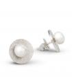 FEELGOOD - Pendientes de plata redondos con perlas.