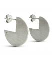 RADIUS - Round silver earrings - Big