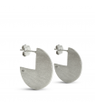 RADIUS - Round silver earrings - Mini