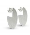 RADIUS - Pendientes de plata ovales - Grandes
