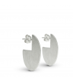 RADIUS - Arracades de plata ovales - Mini