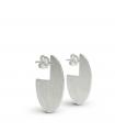 RADIUS - Oval silver earrings - Mini