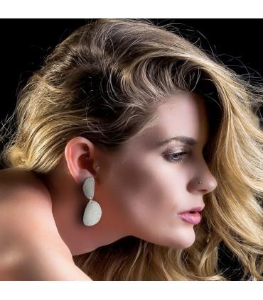 ORIGEN - Two Oval silver earrings