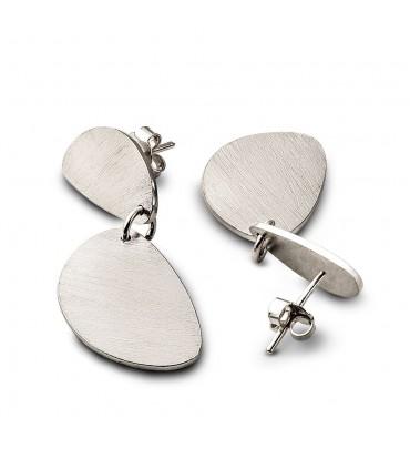 ORIGEN - Pendientes de plata dos ovalos