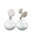 MOOV - Pendientes de plata con perlas.