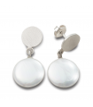 MOOV - Silver earrings with pearl.
