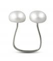 PRINTEMPS - Anello di filo d'argento con perle.