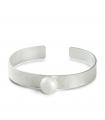 ESCLAVA - Pulsera de plata con perla.