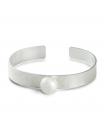 ESCLAVA - Silver bracelet with pearl.