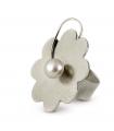 PRINTEMPS - Anello d'argento con perla.