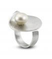 HULA - Anillo de plata con perla.