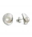 HULA - Pendientes de plata con perlas.
