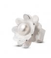 NENÚFAR - Anello d'argento smaltato bianco con perla.