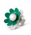 NENÚFAR - Anello d'argento smaltato verde con perla.