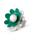 NENÚFAR - Silver ring green enamelled with pearl.