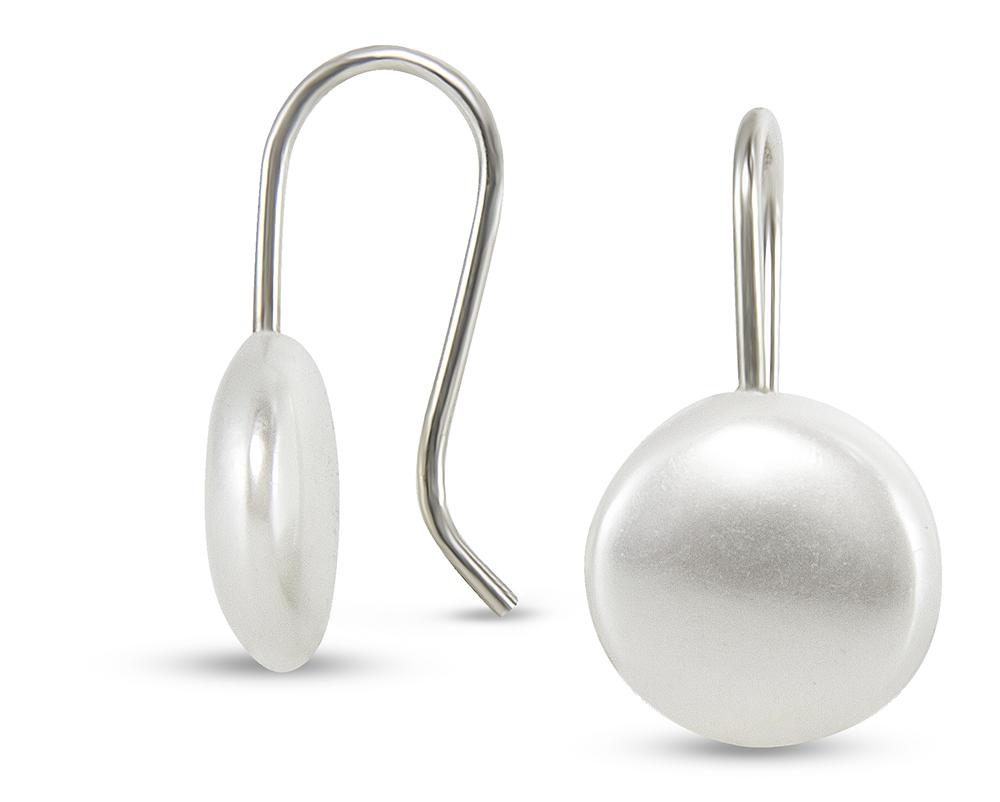 pendientes plata y perla nana