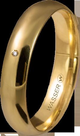 alianza clasica media caña oro amarillo con diamante